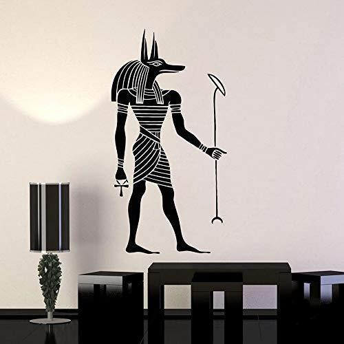 Tianpengyuanshuai Wandtattoo Stil Alten ägyptischen Vinyl Aufkleber Wandbild Schlafzimmer Dekoration 57X22cm