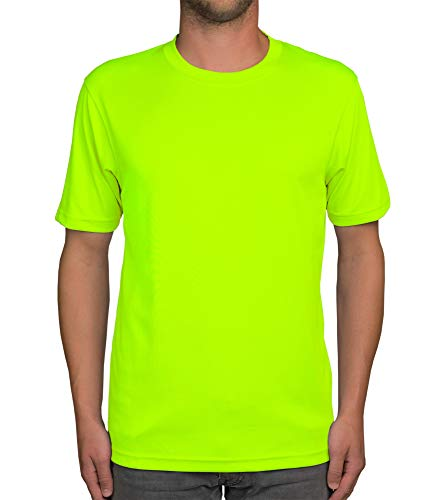shirtdepartment Herren Sport-Shirt (neon, M)