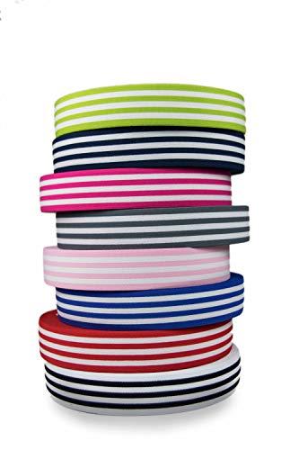 Hochwertiges gestreiftes elastisches Gummiband 40mm beidseitig verwendbar in vielen Farben zur Reparatur und Gestaltung von Hosenbändern, Jogginganzügen oder Hosenträger (hellgrün)