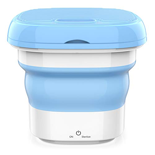 Portable Washing Machine clothes washing machines Ultrasonic Ozone sterilization mini washing machine For wash baby clothes Apartment Dorm Travelling Gift for Friend or Family(blue)