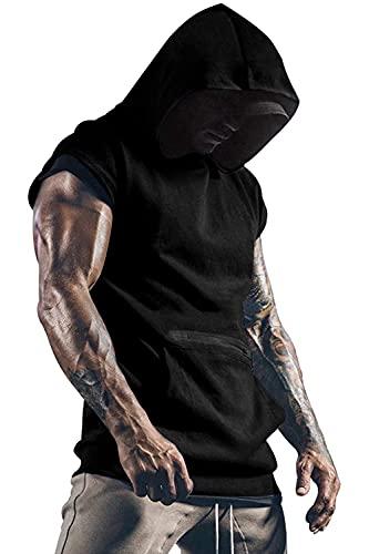 Yidarton Camiseta sin mangas para hombre, para entrenamiento, deporte, fitness, musculación, para gimnasio, culturismo Negro M