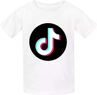EicopsnUOi Tok-TIK Boys and Girls Fashion Cotton Round Neck T-Shirt White M