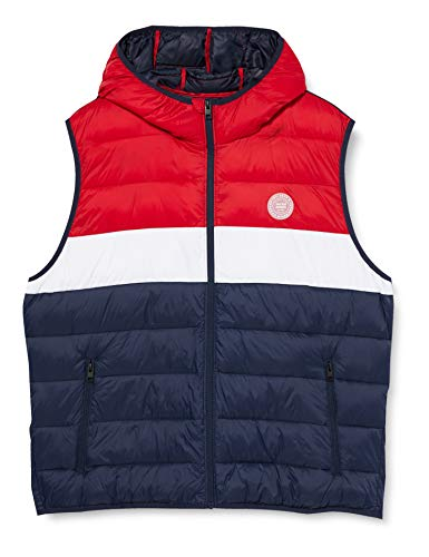 JACK & JONES Herren JJEMAGIC Body Warmer Hood Daunenweste, Tango Red, XL