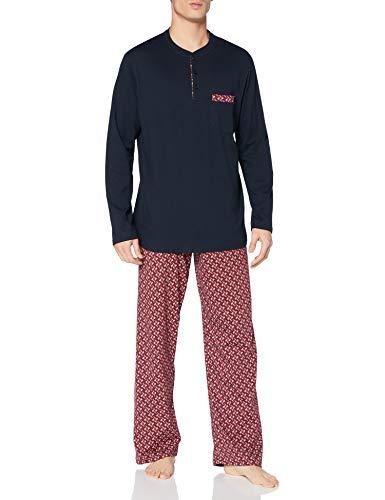Schiesser Herren Schlafanzug lang\' Pyjamaset, dunkelblau (blau), 54
