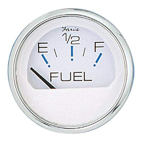 Faria - 3003.3544 13801 Chesapeake Stainless Steel Fuel Level Gauge (E-1/2-F) - 2', White