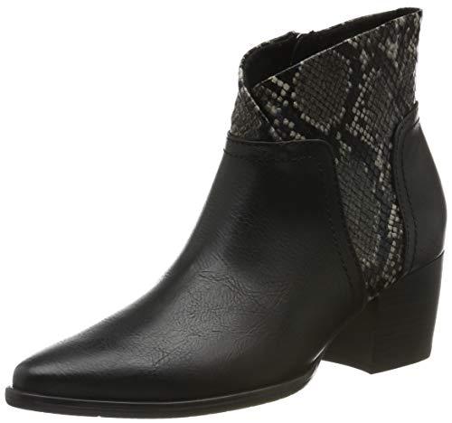 Marco Tozzi Ladies Patent Brogue Design Boot Bordeaux Pat.