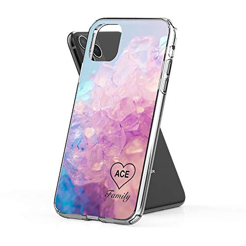 nasboy Ace Family Crystal Heart Case Cover Compatible for iPhone iPhone (11)