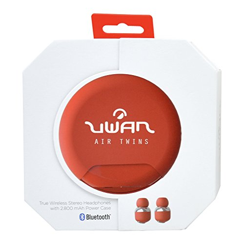 Uwan 98211 – koptelefoon draadloos met accu voor mobiele telefoon, rood
