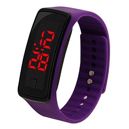 Cewaal Braccialetto a fascia in silicone per orologio sportivo digitale LED Fashion Uomini Donne Ragazzi Ragazze