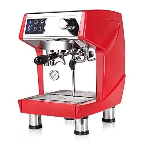 HMBB Máquina de espresso 15 Bar Expresso Cafetera con leche Frother Wand,Calefacción rápida Máquinas de café automáticas for el espresso,Cappuccino Latte y Macchiato (Color : Red)