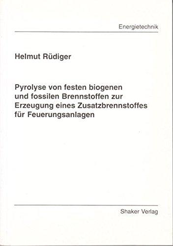 Pyrolyse von festen biogenen und fossilen Brennstoffen zur Erzeugung eines Zusatzbrennstoffes für Feuerungsanlagen (Berichte aus der Energietechnik)