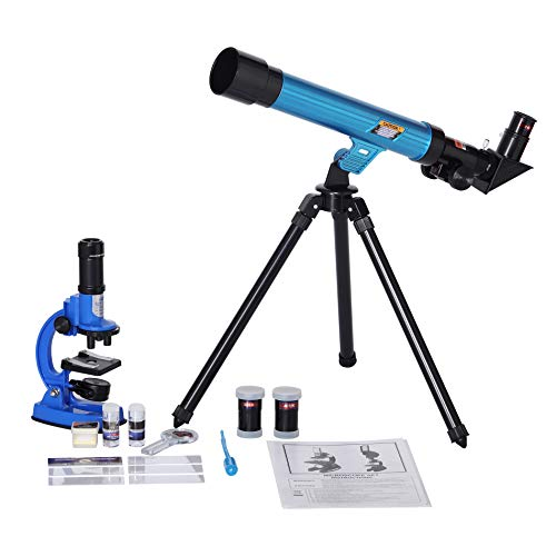 IDS Home Eastcolight Deluxe Microscope and Telescope Educational Kit Set, Outdoor Explorer Kit, Science Educational Toys, Biological Chemistry Lad Toys Gifts, Best for 8+ Year Old Kids, Boy and Girl