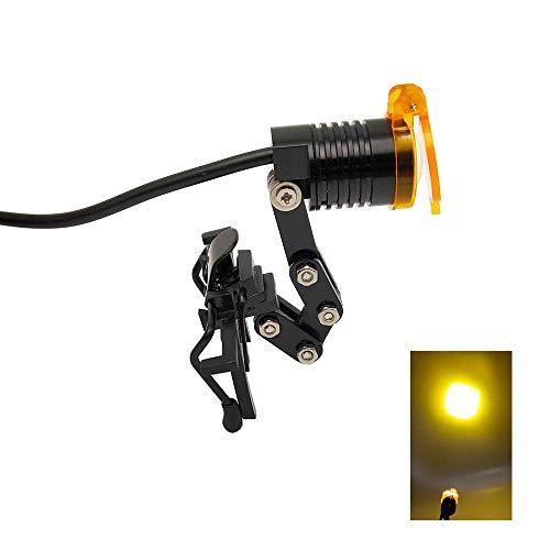 LED 3W clip morsetto mike-dental Head Light Lamp per dentali binoculari occhiali strumento