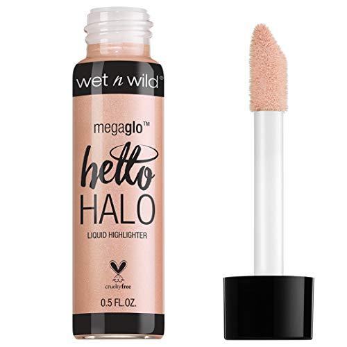 Wet n Wild Megaglo Helo Halo Liquid Highlighter (Halo Goodbye)- Iluminador Líquido con Pigmentos Perlados Brillantes - 1 unidad