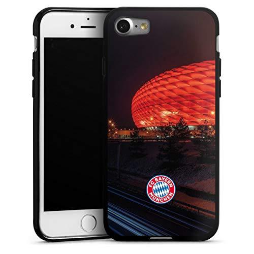 DeinDesign Silikon Hülle kompatibel mit Apple iPhone 8 Case schwarz Handyhülle FCB Stadion FC Bayern München