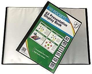 Tiger A3 40 Pocket Flexible Cover Presentation Display Book - for Art Work/Photographs FlexCover Portfolio