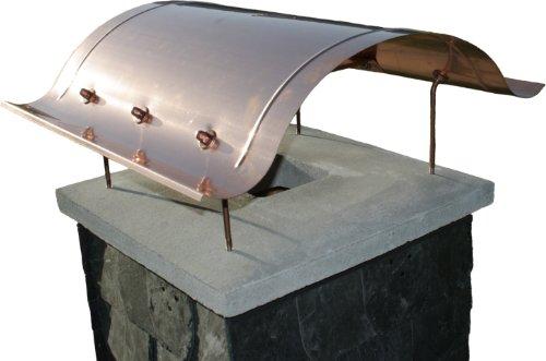 Kaminabdeckung aus Kupfer, handgefertigte Schornsteinabdeckung, Kaminhaube Typ Sylt