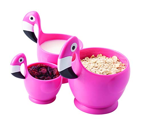 Joie Kitchen Gadgets Flamingo-Messbecher, 3-teiliges Set, Kunststoff, 250 ml, 16716