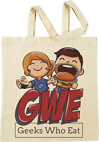Vendax Geeks Who Eat - Food Beige Bolsa De Compras