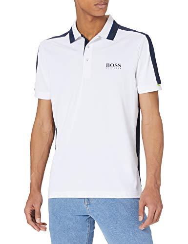 BOSS Paule 3 10227294 01 Camisa de Polo, White100, XL para Hombre