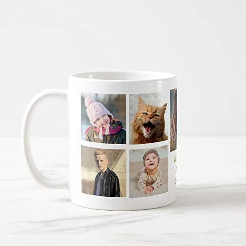 Worlds Best Mother Instagram zdjęcie kolaż imię kubek do kawy ceramiczny kubek do kawy zabawny kubek do kawy 325 ml + bezpłatne pudełko na prezent