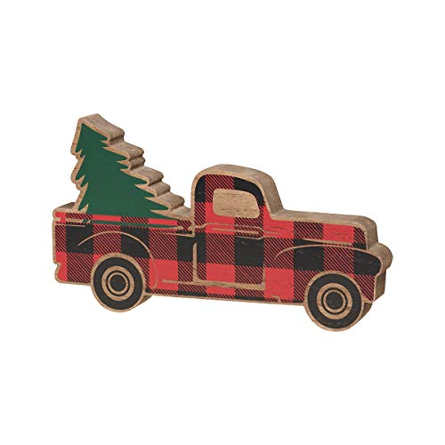 Collins Painting Christmas Truck Wood Cutout - Holiday Decorations - Vintage Christmas Decoratons - Holiday Wooden Cutouts