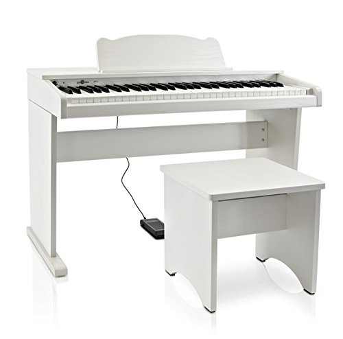 JDP-1 Junior Pianoforte Digitale di Gear4music Bianco