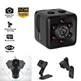 Mini Hidden Spy Camera Portable Small 1080P Wireless Cam with Night Vision and Motion Detection for Nanny/Housekeeper, Security Sports Camera . (Black)