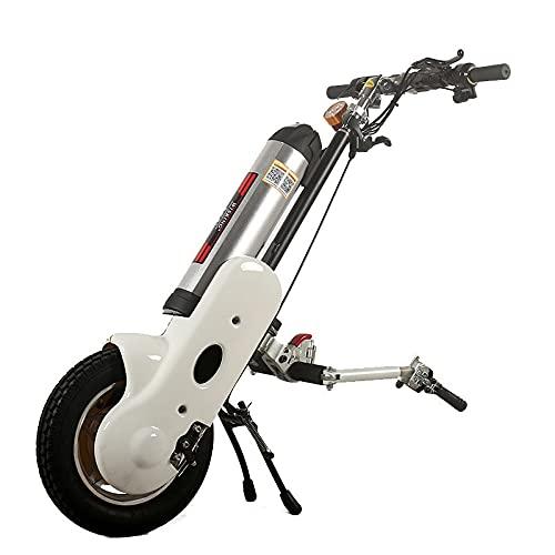 JINKEBIN Electric Silla de Ruedas Mejor Precio 36V / 12AH Handbike eléctrico Manual de manejo de la Cabezal de la cabecera Tracción de la Cabeza Booster para discapacitados