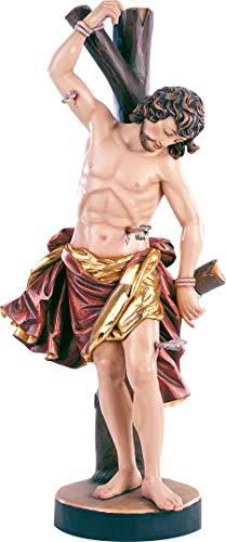 Ferrari & Arrighetti Statue des Heiligen Sebastian, Holzfigur des Heiligen Sebastian, Handbemalt, Höhe: 40 cm, Demetz-Deur