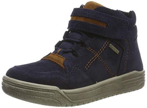 Superfit Jungen EARTH-509059 Hohe Sneaker, Blau (Blau/Braun 80), 33 EU