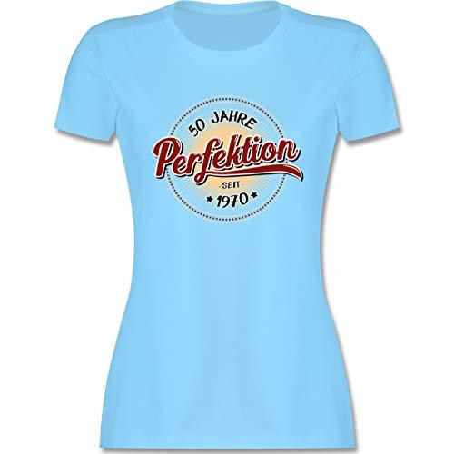 Geburtstag - 50 Jahre Perfektion seit 1970 - S - Hellblau - 1969 Damen - L191 - Tailliertes Tshirt für Damen und Frauen T-Shirt