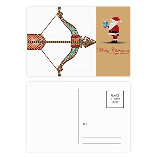 Boogschutter sterrenbeeld Zodiac Symbool Kerstman Postkaart Set Thanks Card Mailing 20 stks
