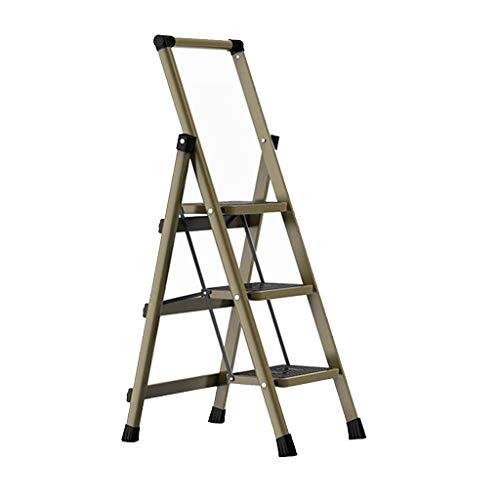 LRZLZY 3-Stufenleiter, Folding Stahl Küchen Schritt Hocker, Heavy Duty Trittleiter, Anti-Rutsch und drehende Werkzeugkasten, Haushalt Platform - 150kg Max Kapazität (Color : B)
