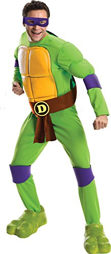 Men's Teenage Mutant Ninja Turtles Deluxe Adult Muscle Chest Donatello, Green, Standard by Nickelodeon