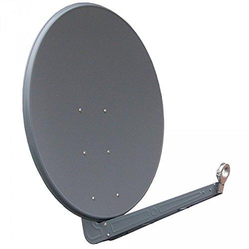 Gibertini, parabola in alluminio color antracite della serie SE da 100 cm, incluso supporto per feed in zinco pressofuso da 40 mm