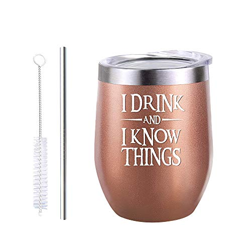 LKHF Vaso de Vino Aislado de 12 oz Taza de cáscara de Huevo de Doble Pared de Acero Inoxidable