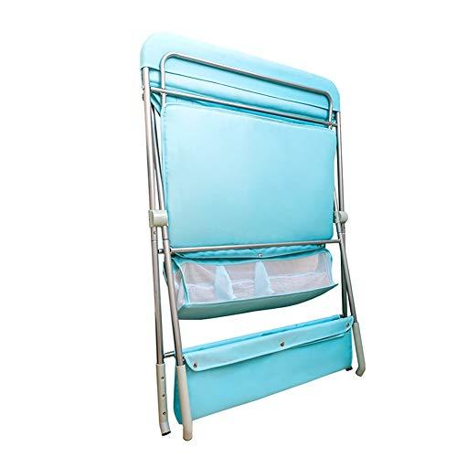 Fasciatoi Folding, Altezza Regolabile Pannolino Stazione, Portatile Mobile Nursery Organizzatore con Rack di Stoccaggio, Carico 40kg