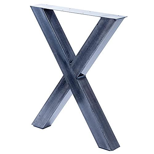 Bentatec 1 x Tischgestell in X Form im Stahl Design