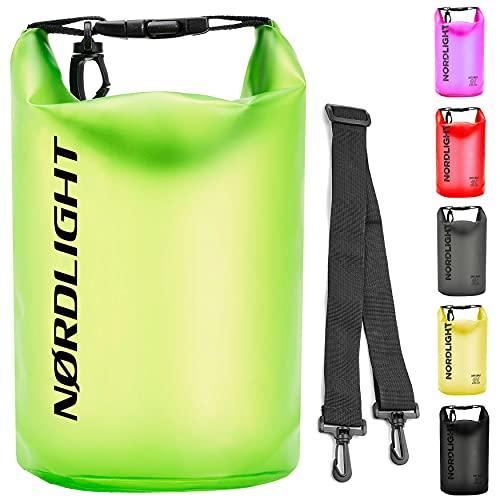Dry Bag 20l Wasserdichter Beutel (Grün) - Packsack mit Tragegurt, Strandsafe Dokumententasche Für, Strand, Kanu, Stand Up Paddling, Wandern, Kajak, Tauchen, Angeln, Schwimmen