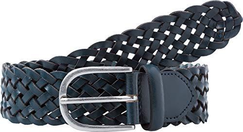 BRAX Style Flechtledergürtel Cintura, Blu (Indaco), 80 cm Donna