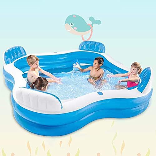 """ZHANGLE 90\""""x90 x18 aufblasbare Schwimmbäder, PVC Klapp-Schwimmzentrum Family Inflatable Pool, Kinder Erwachsene Badewannen, für Garten, Garten"""