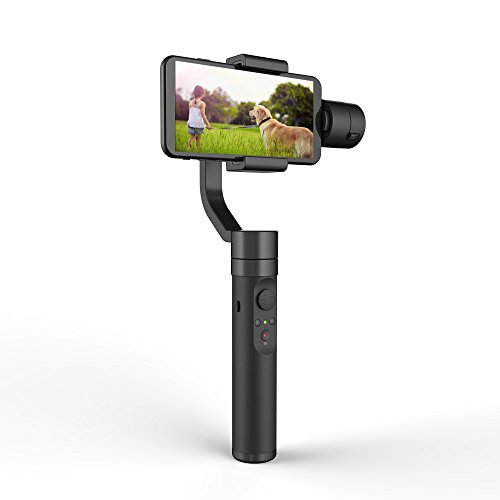 YI Smartphone Gimbal Stabilisator 3 Achsen Handheld Halterung YI Gimbal Stabilizer 360° für Smartphone Apple iPhone, Samsung Galaxy, Huawei, Xiaomi, One-Plus, Google und andere Android Smartphone