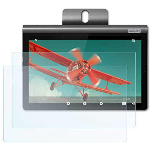 Bruni Screen Protector compatible with Lenovo Yoga Smart Tab 10 Protector Film, crystal clear Protective Film (2X)