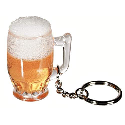Schlüsselanhänger Bierkrug - Kunststoff-Bierglas - Sammlung Schlüsselring - originelle und ungewöhnliche Geschenk