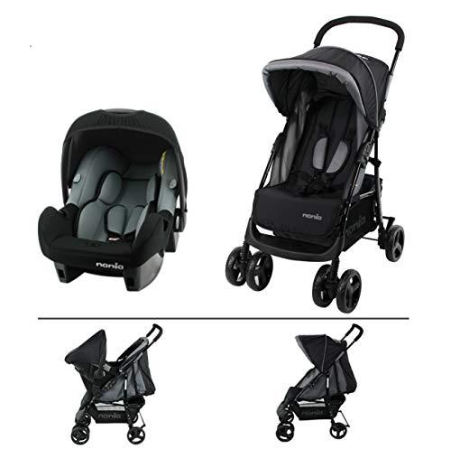 TEXAS Kinderwagen für Kinder von 6 bis 36 Monaten mit Liegeposition + Beone Autositz empfohlen 4 Sterne ADAC Grp 0+ (0-13 Kg)