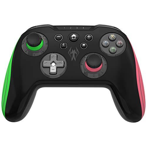Wireless Controller per Nintendo Switch, BestOff Pro Remote Gamepad Joystick Support Turbo Controller con Dual Shock & Motion Control, Design Ergonomico Della Batteria Ricaricabile