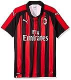Puma AC Milan Home Shirt Replica SS with Sponsor Logo, Maglietta Uomo, Rosso (Tango Red Black), L