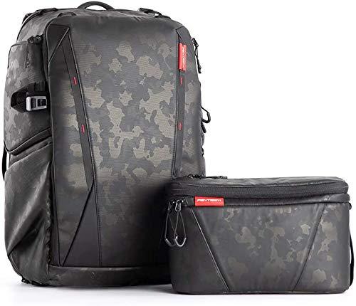 PGYTECH OneMo Waterproof Camera Backpack 25L with Shoulder Bag for Sony, Canon, Nikon, Drone, DJI Mavic Mini 2/Air 2, OSMO Action/Pocket, DSLR/SLR Mirrorless, Camera Tripod… (Olivine Camo)
