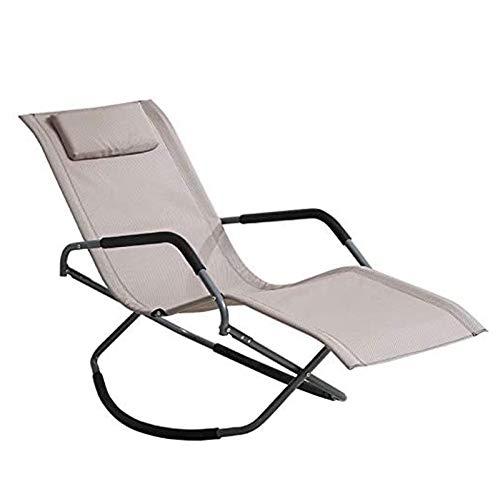 CHENNA Zero Gravity Reclining Chair Rocking Chair Balcone Sedia di Svago con Comodo poggiatesta Pausa Pranzo Sedia, Facile da installare
